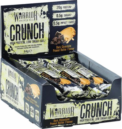Image of Warrior Crunch 12 - 64g Bars Dark Chocolate Peanut Butter