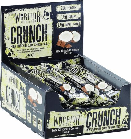 Image of Warrior Crunch 12 - 64g Bars Milk Chocolate Coconut
