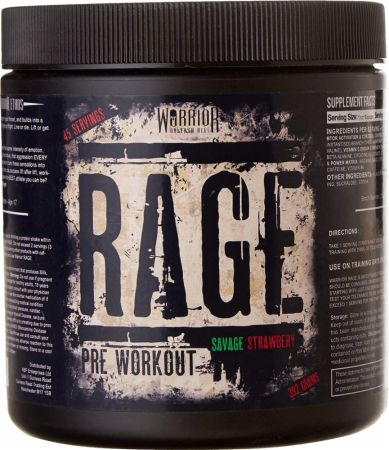 Image of Rage Savage Strawberry 45 Servings - Pre-Workout Supplements Warrior