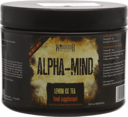 Image of Warrior Alpha-Mind 30 Servings Lemon Ice Tea