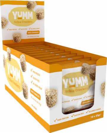 Image of Yumm Protein Crunchers 10 x 23g Packs White Chocolate