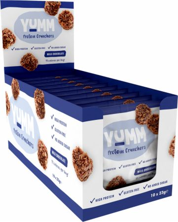 Image of Yumm Protein Crunchers 10 x 23g Packs Milk Chocolate
