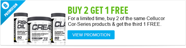 Buy any 2 of Cellucors Cor-Series and get the 3rd one FREE. Hurry while supplies last