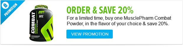 For a limited time Buy MP Combat Powdera and save 20%. Hurry while supplies last.